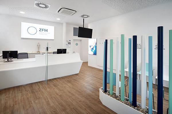 Empfangsbereich im ZFM - Zentrum für Mobilität in Wien