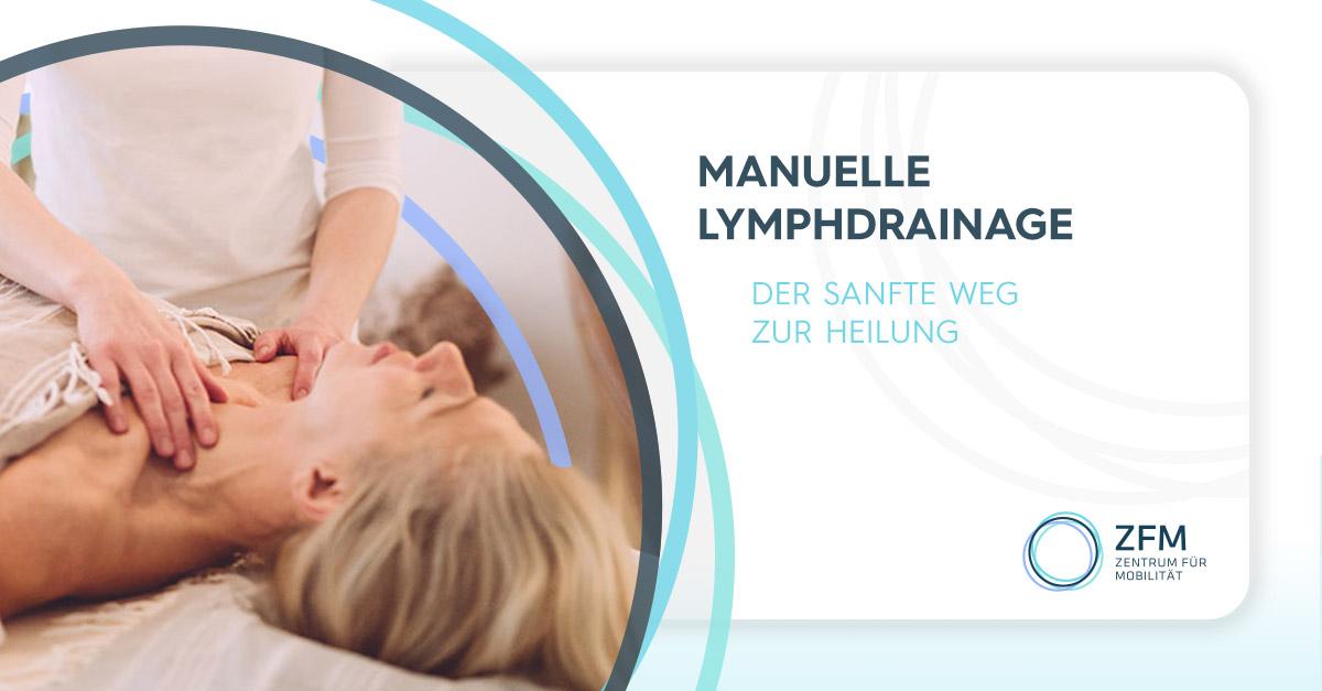Manuelle Lymphdrainage - Der Sanfte Weg Zur Heilung - Frau liegt auf dem Rücken und bekommt von Fr. Rovina eine Manuelle Lymphdrainage